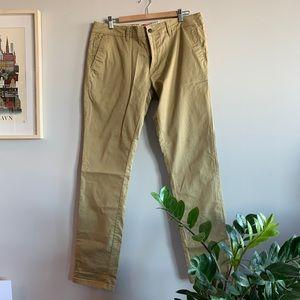Zara men basic collection khaki pants